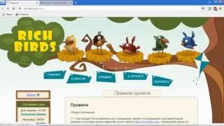 Rich Birds 10 000 рублей за Месяц без Вложений.