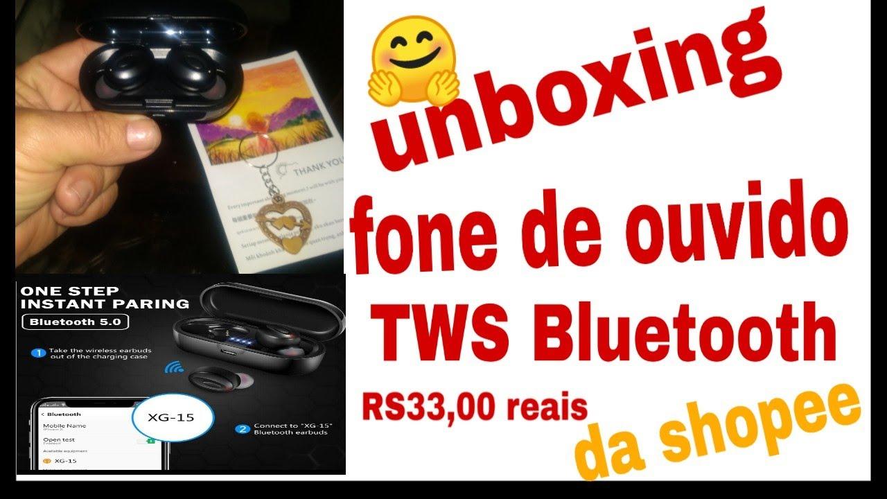 Unboxing fone de ouvido TWS Bluetooth da shopee 🤗
