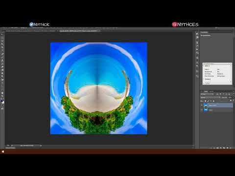 Tiny planet Tutorial sin camara 360 | Adobe Photoshop CC | thumbnail