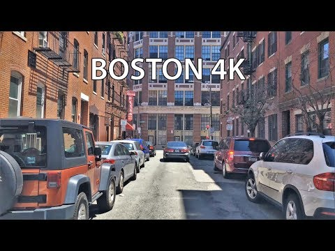 Driving Downtown - Boston USA 4K