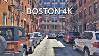 Driving Downtown - Boston 4K - USA