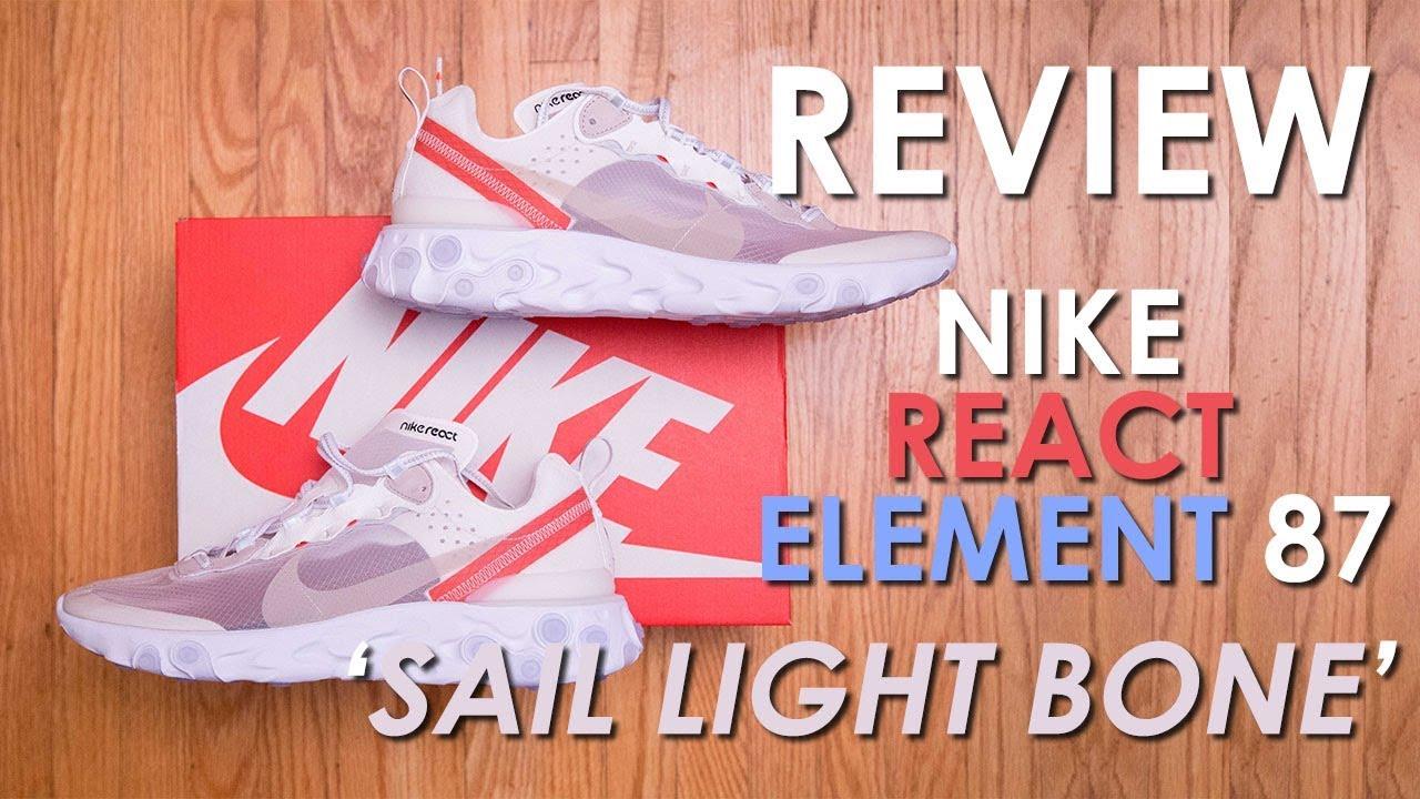 82908b3ea86f65 Nike React Element 87  Sail Light Bone  Review and On Feet