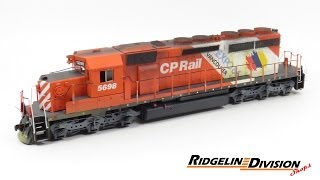 HO Scale Build Log: Painting an Athearn SD40-2 - CP 5698