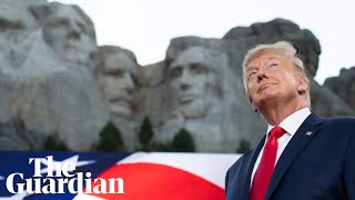Donald Trump says US 'under siege from far-left fascism' in Mount Rushmore speech