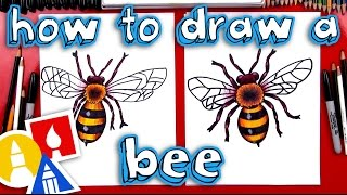 How To Draw A Realistic Bee