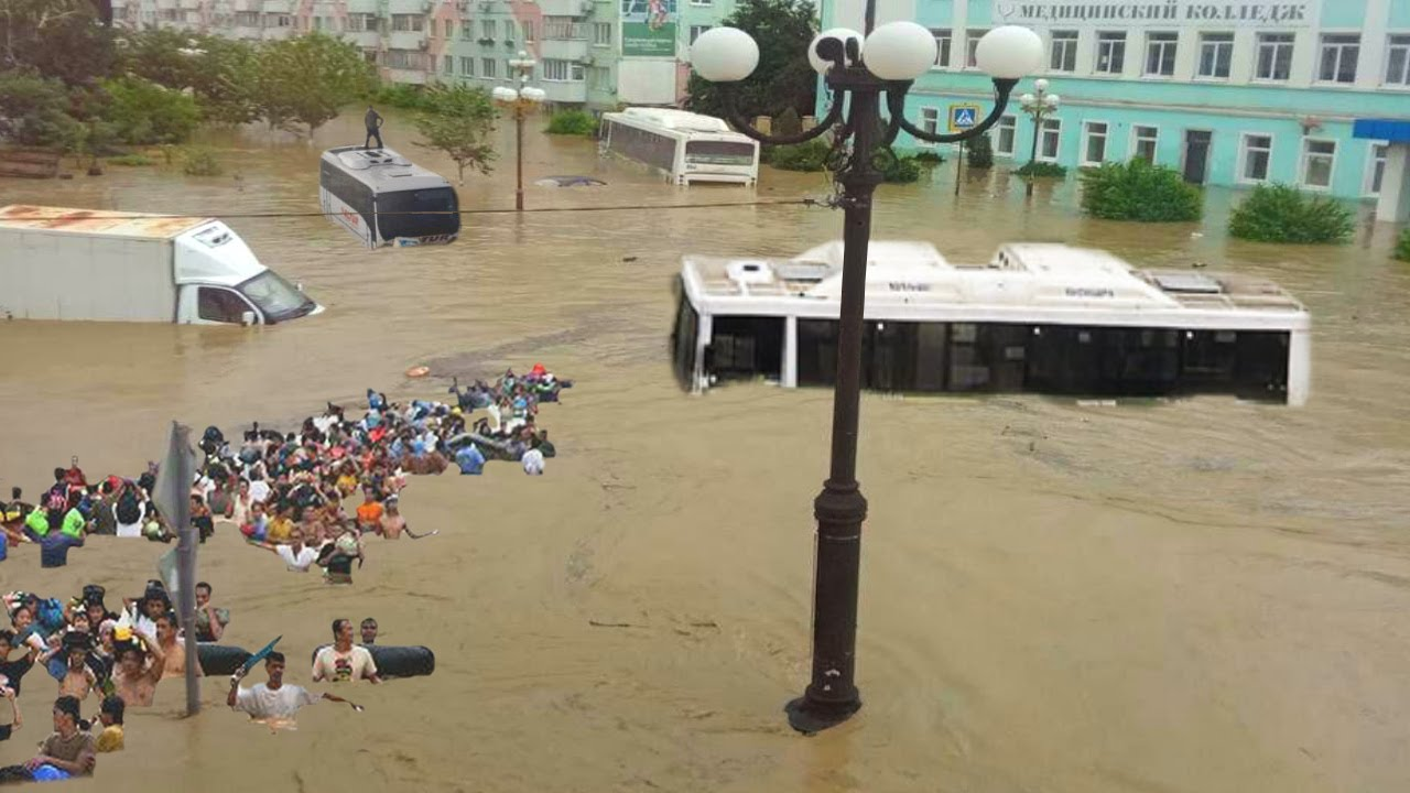 CRIMEA is no More! 🌊 Flooding in Kerch, Russia.
