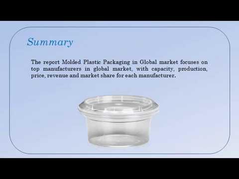 Global Molded Plastic Packaging Market Report 2017: Aarkstore