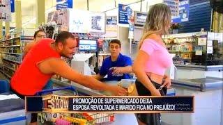 GOSTOSA DEIXA ESPOSAS FURIOSAS EM SUPERMERCADO  - PEGADINHA JOÃO KLEBER