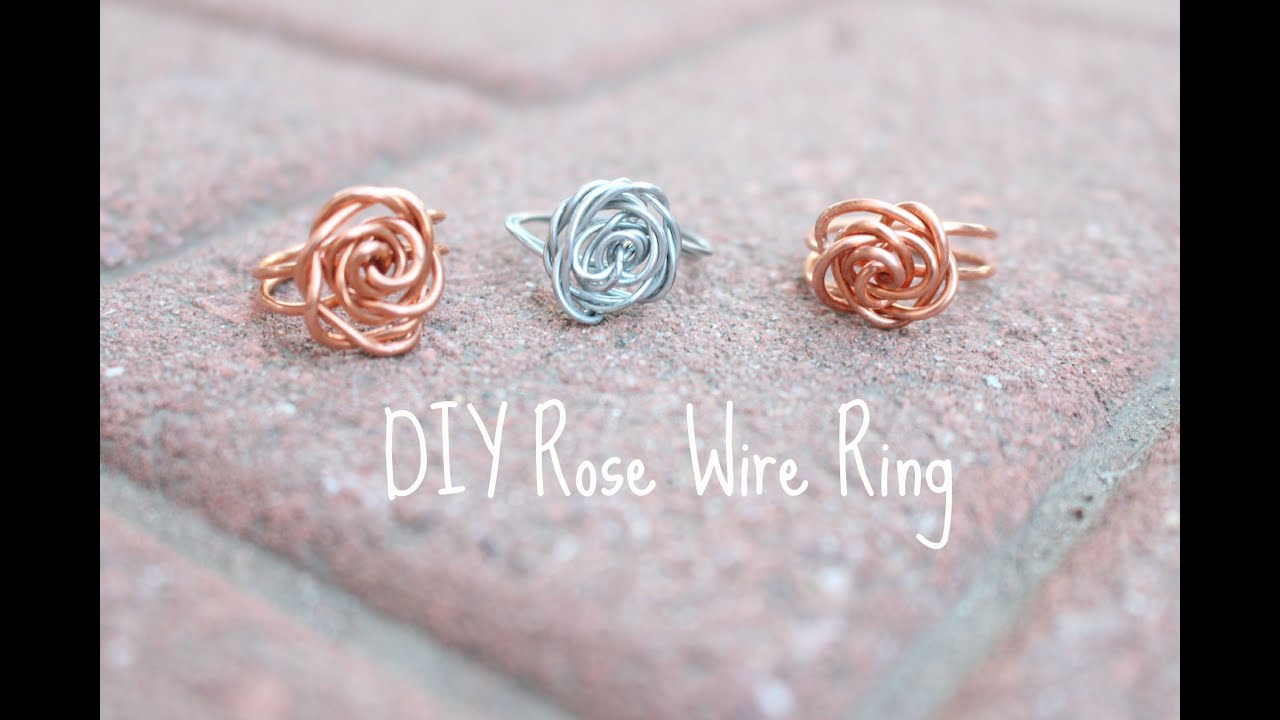 D.I.Y all the Time! Rose Wire Ring - YouTube