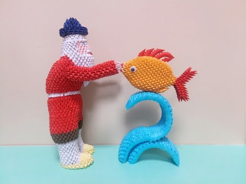 Сказка о рыбаке и рыбке (мастер-класс) 1 часть