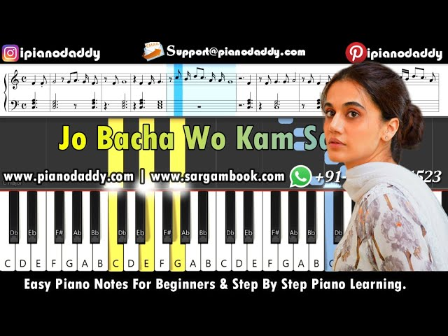 Ek Tukda Dhoop (Thappad) Piano Tutorial + Piano Notes