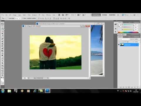 วิธีการตัดต่อภาพด้วยPhotoshop CS5