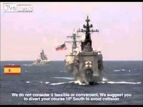 conversazione radio tra nave usa e spagna in italiano