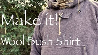 How To Make A Bush Shirt From A Wool Blanket.