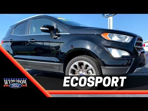 🚨 Used 2018 Ford Ecosport Titanium 4x4 Shadow Black | Wynn Odom Ford