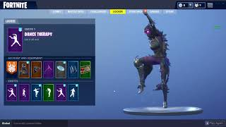 FORTNITE SEASON 5 NEW DANCES 'DANCE THERAPY' AND 'SHAKE IT UP' ON 3 COOL SKINS (LEAKED FEMALE RAVEN)