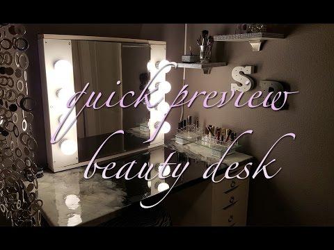 Quick Preview | Beauty Desk | Vanity Mirror | Resin Art Desk