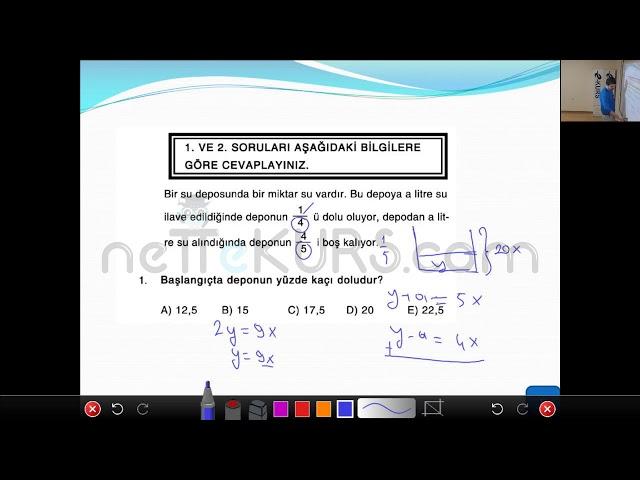 KPSS Matematik - Kesir Problemleri Konu Anlatımları, Soru Çözümleri / nettekurs Online KPSS Kursu