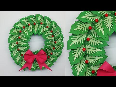 Paper Christmas Wreath DIY Tutorial Christmas Decorations | How to Make Christmas Wreath
