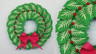 Paper Christmas Wreath DIY Tut…