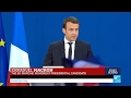 France Presidential Election: 1st round winner Emmanuel Macron addresses supporters