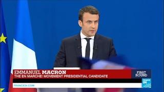 France Presidential Election: 1st round winner Emmanuel Macron addresses supporters