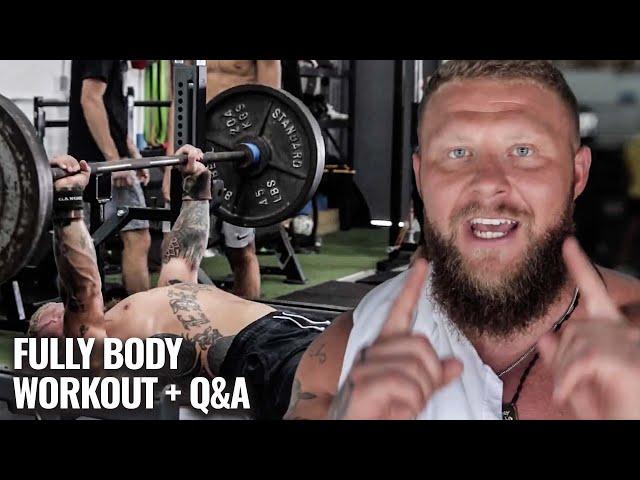 POWERBUILDING FULL BODY WORKOUT + Q&A W/PHIL DARU