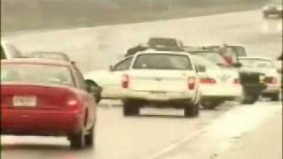 Multi Car Crash Snow Slide on ice