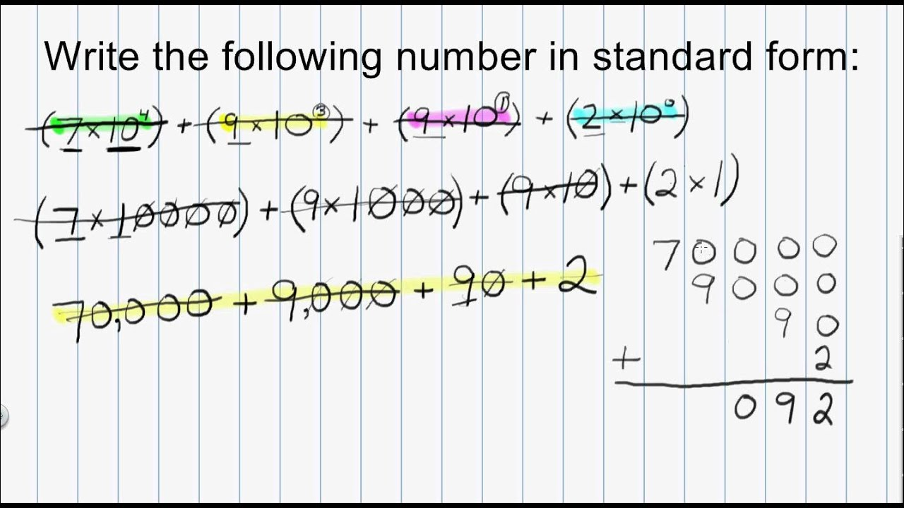 Math numeration how to convert a whole number from expanded form math numeration how to convert a whole number from expanded form to standard form part 3 falaconquin