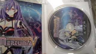 Unboxing Hyperdimension Neptunia Victory NIS America Sony Playstation 3 PS3 PS JRPG RARE GAME!