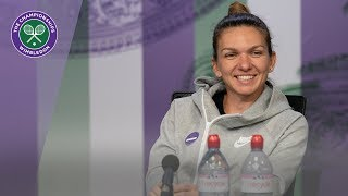 Simona Halep Winner's Press Conference Wimbledon 2019