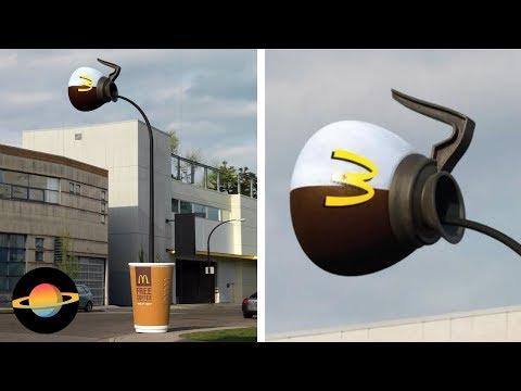 10 kreatywnych reklam na latarniach miejskich