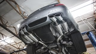 bmw e60 m5 revs up with eisenmann axel back exhaust
