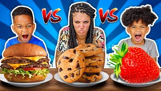 HEALTHY VS JUNK FOOD CHALLENGE WITH THE PRINCE FAMILY!!