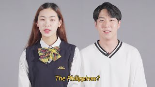 What comes to your mind first about the Philippines?│100 Korean Interviews