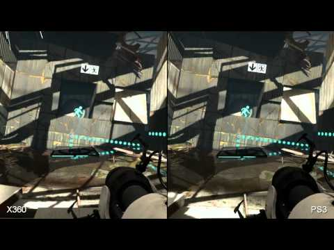 Portal 2 360 vs PS3 Comparison HD