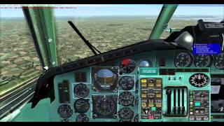 FSX Project Tupolev Tu154-B2 Warsaw/EPWA-EPGD/Gdansk Full Flight Final Part 5 HD