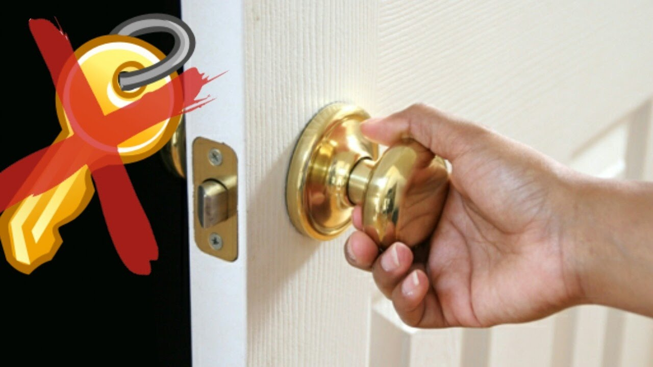 How To Open A Locked Door Without A Key !!!   YouTube