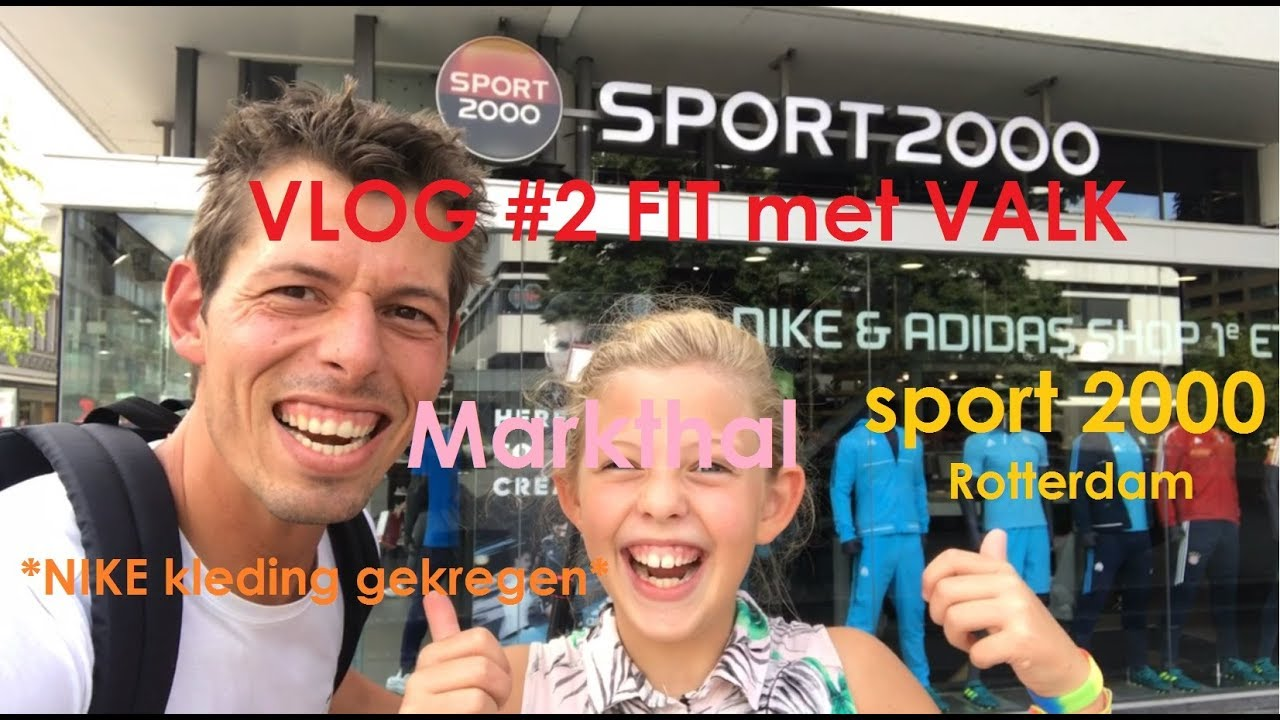 5a153de4500 VLOG #2 FIT met VALK logo en sportkleding sport2000 Hoogstraat Rotterdam