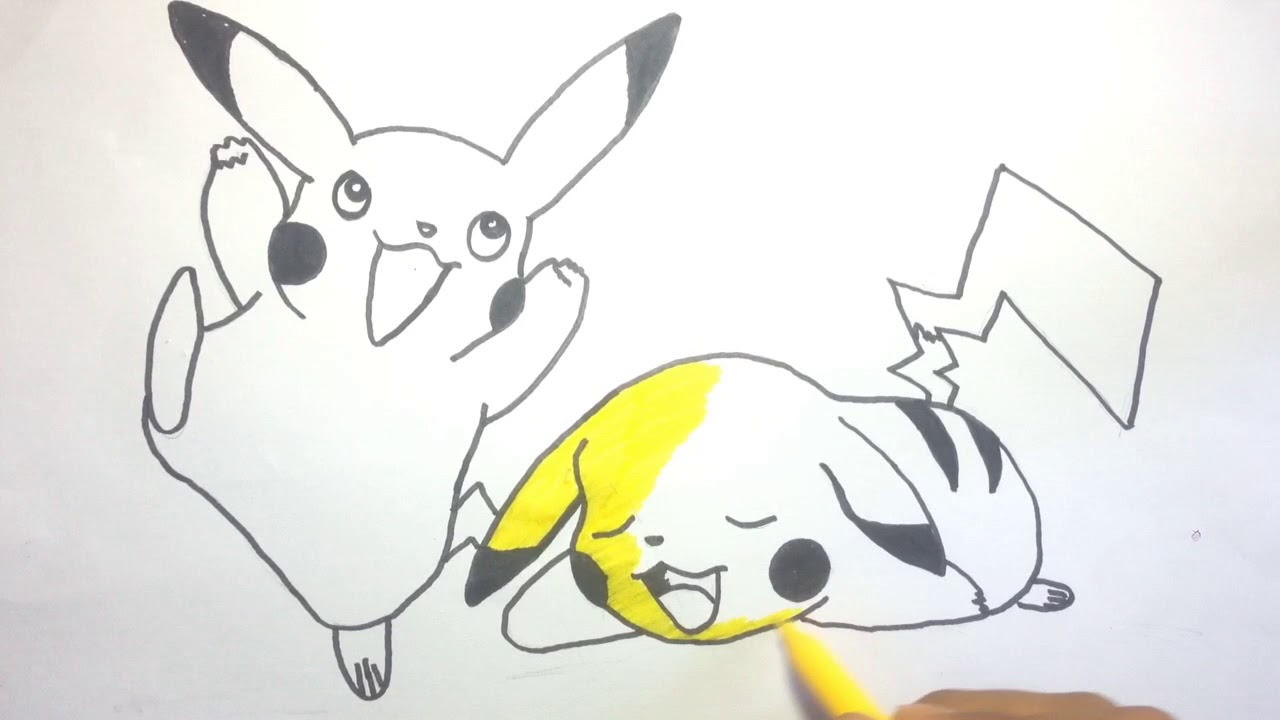 Menggambar Dan Mewarnai Pokemon Detective Pikachu How To Draw A
