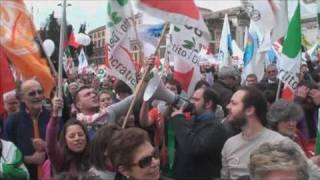miles de manifestantes contra berlusconi en italia