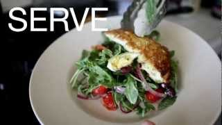 Quick & Healthy Big Greek Salad & Homemade Italian Dressing With Coconut Crusted Chicken Recipe