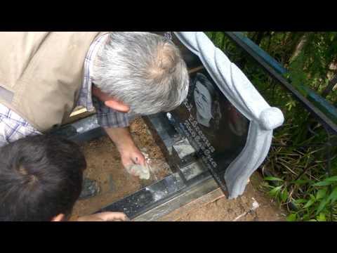 Установка памятника на ритуальные плиты (фундаментные), просто и очень надежно ч.3