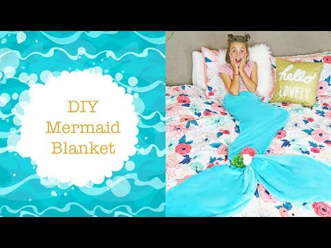 diy-mermaid-tail-blanket-for-kids-|-no-sew-diy-ideas-|-kids-cooking-and-crafts
