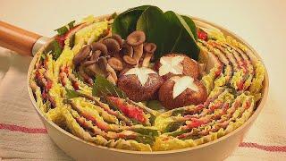 [ENG/간단요리] 육수없이 밀푀유나베 만들기+ 땅콩소…