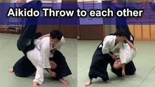 Aikido ‐ Dynamic throw each other