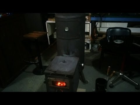 rocket stove with large firebox and oven