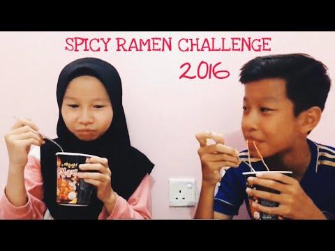 Spicy Korean Ramen Noodle Challenge 🔥🌚x