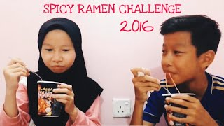 Spicy Korean Ramen Noodle Challenge 🔥🌚x