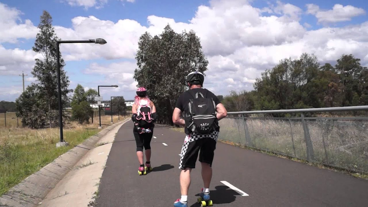 Roller skate shoes in sydney - Roller Skating The M7 Bike Lane Prestons To M4 Mon 7th Oct 2013